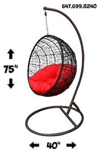 PRICE FIRM patio furniture hanging egg chair indoor outdoor Oakville, L6H 6Z8