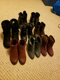 8 pairs ladies boots for sale 75 for all of them Edmonton, T5M 3L9