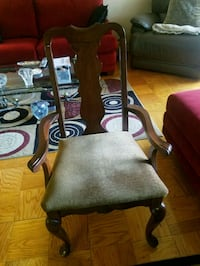 brown wooden frame padded armchair Silver Spring, 20906