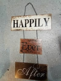METAL HAPPILY EVER AFTER  HANGING WALL DECOR