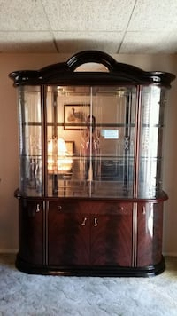 Dark brown china hutch with high gloss finish Riverside, 92505