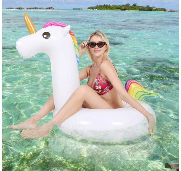 NEW! Pool Float Unicorn Inflatable Float Water Swimming Float Inflatable  Rafts Summer Beach Swimming Pool Party Lounge Float Toy for Adults Kids