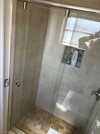 Frameless shower and mirrors