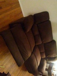 brown fabric 3-seat sofa New Haven, 06515