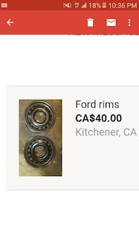 gray steel ford rims Kitchener, N2M 3X4