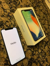 White iPhone X (256gb) unlocked Arlington, 22204