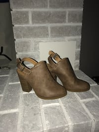 Brown leather booties Abbotsford