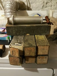 Antique player Piano 34 music rolls