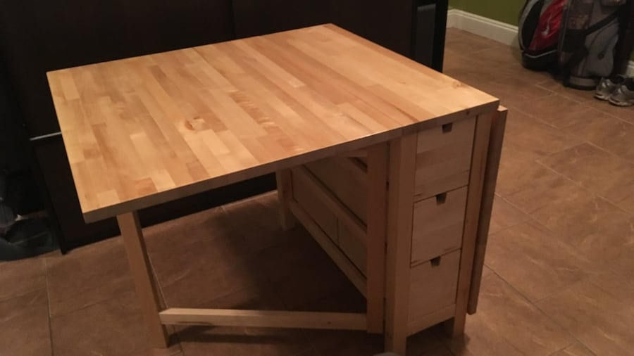 Used Ikea Norden Gateleg Table Wood Birch For Sale In Vancouver