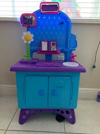 Blue and pink kitchen play set