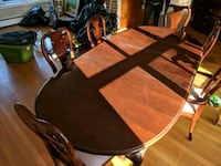 brown wooden dining table set Somerville