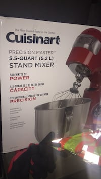 black and gray Cuisinart stand mixer box Abbotsford, V2S 4A1