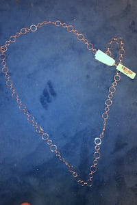 Macy's silver necklace with tags on  Arlington, 22201