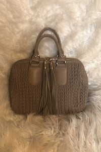 Bag/ Taupe quilted satchel with tassels San Jose, 95121