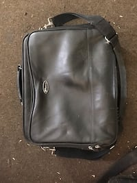 black leather 2-way bag Burlington, L7S