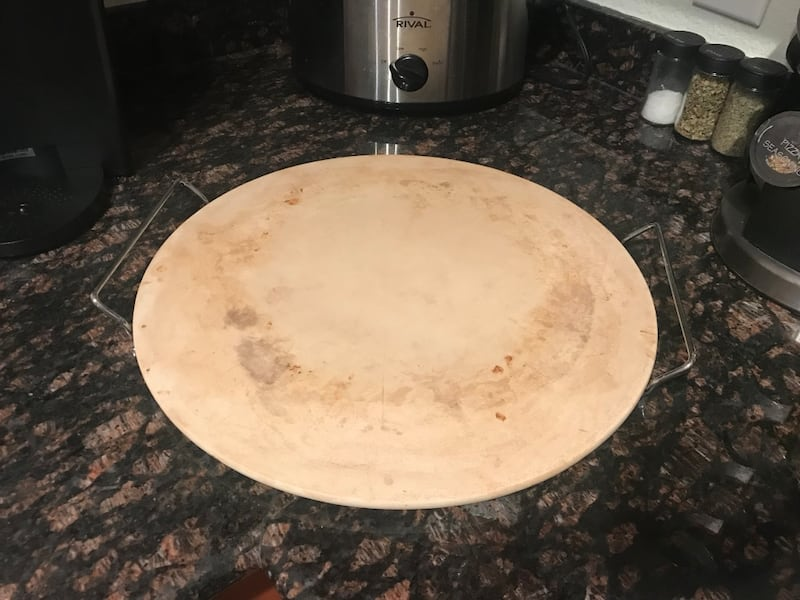15' Pizza Stone with Stand d9156748-83a4-4cd3-9c3a-2e7b2a825091