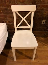 White Ikea Solid Wood Chair New York, 10025