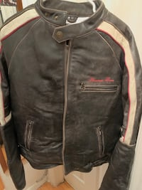 Phat Farm Biker Leather Jacket Ajax