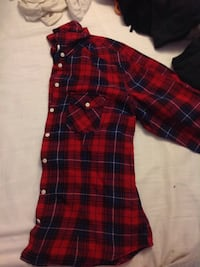 red, white, and blue plaid sport shirt Vancouver, V5M 3G3