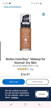 Revlon 24h foundation make up!