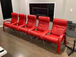 5 LAFER Home Theater Reclining Leather Chairs