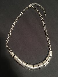 Silver Plated link-chain necklace