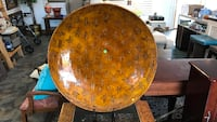 round brown wooden table clock Pittsboro, 46167