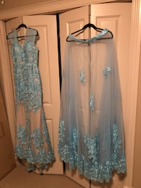 Baby blue long dress 2 pieces bought for $1000 American just wear it one time, size 12 but fit 10  Halifax, B3K 2B4
