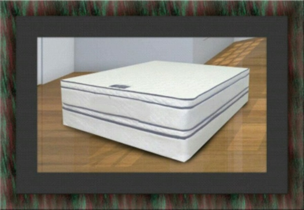 Queen double pillow top mattress with boxspring