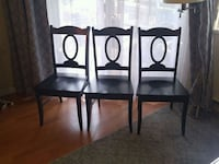 Three black wooden framed  chairs New Westminster, V3M 1M4