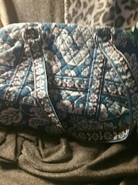 quilted blue and white floral handbag Monticello, 47960