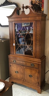 Vintage wood china cabinet really nice