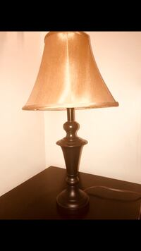 brown wooden base with beige lampshade table lamp Alexandria, 22306