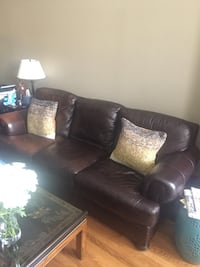 brown leather 3-seat sofa Chicago, 60642