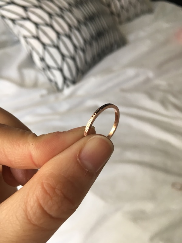 Rose gold knot ring - thin 14K rose gold filled promise ring 7