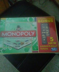 Unopened monopoly game 5 new limited tokens  Burnsville, 55306