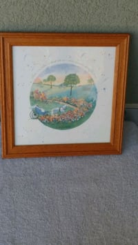 Horse & Carriage framed print (Plz read info)