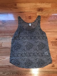 Black & White Paisley tank top  Columbus, 43215