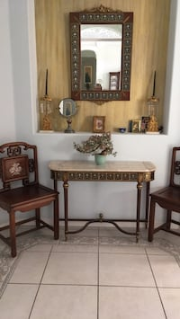 brown wooden table with chairs Venice, 34292