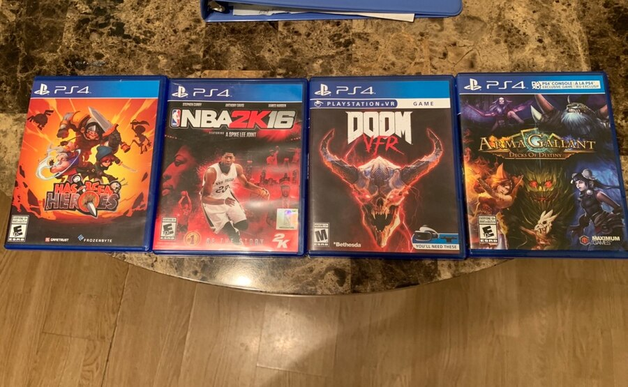 Used, three assorted PS4 game cases for sale  Kannapolis