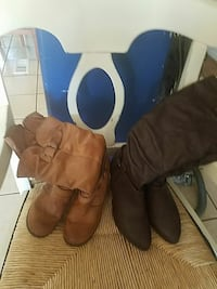 pair of brown leather boots San Bernardino, 92410