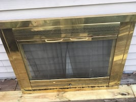 Fire place screen cover. 39 width and 30.5 height