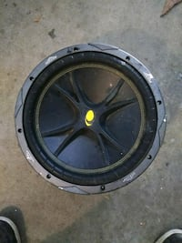 black and gray Kicker subwoofer Tipton, 93272