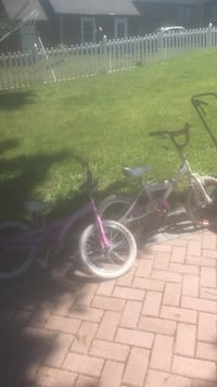 purple and white bicycle with training wheels Ridgefield, 07657