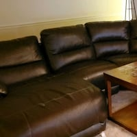 brown leather couch Falls Church