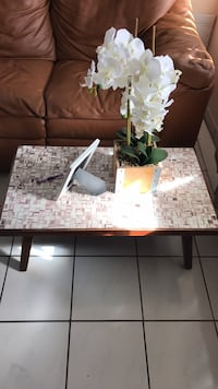 rectangular white and brown wooden table Hollywood, 33020