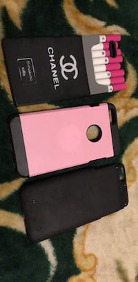 two purple and black iPhone cases 550 km