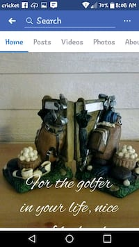 two black and brown ceramic figurines Collins, 39428