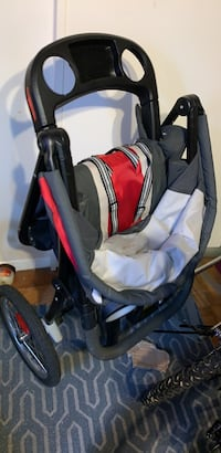 baby's black and red stroller Springfield, 22151