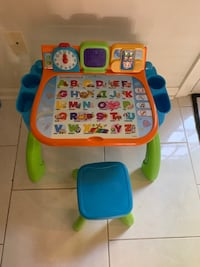 Fisher price learning table and chair